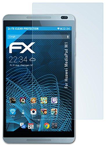 atFolix Schutzfolie kompatibel mit Huawei MediaPad M1 Folie, ultraklare FX Bildschirmschutzfolie (2X)