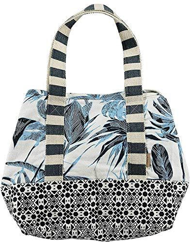 Barts Damen Acacia Bag Tasche Shopper Blumenmuster 33x33x33cm - Blau