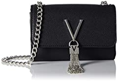 Textured leather Chain shoulder strap Silver chain detailing 100% Leather Product Code: VBS1R403G