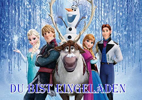 TV-24 Frozen Die Eiskönigin Einladungskarten 12er Set inkl. 12 Umschläge E6