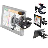 Heavy Duty Bike Motorcycle Clamp Mount Holder for Garmin Nuvi 52LM 54 55LMT 56LMT 57LMT 58LMT 66 67 68 2557 2559LMT 2597 2598 2639 2689 2699 Drive DriveSmart 51 60 61 62 63 65 67 LMT T GPS