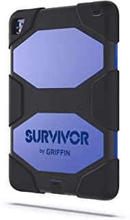 Griffin iPad Pro 9.7-inch Rugged Case, Survivor All-Terrain with Stand, Black/Blue - Mil-spec Tested, Real-World Proven Protection.