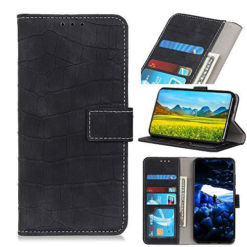 Snow Color Oppo Realme 6Pro Hülle, Premium Leder Tasche Flip Wallet Case [Standfunktion] [Kartenfächern] PU-Leder Schutzhülle Brieftasche Handyhülle für Oppo Realme 6 Pro - COKZN060194 Schwarz
