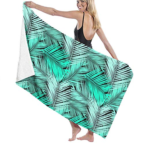 ZYWL HAHAPHONE Cute Space Monkey Absorbent Beach Towels Oversized Blanket for Gym Yoga Pool Bath Spa