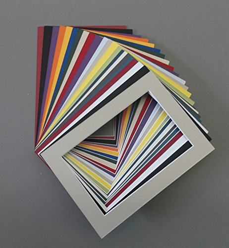 Pack of 100 5x7 Picture Mats with White Core Bevel Cut for 4x6 Pictures Various Colors