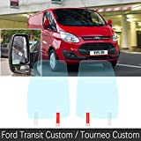 Cubierta completa Cubierta protectora Película antiniebla adecuada para Ford Transit después de Tourneo Custom 2013 ~ 2019 Espejo retrovisor del coche Accesorios a prueba de lluvia Transit Custom