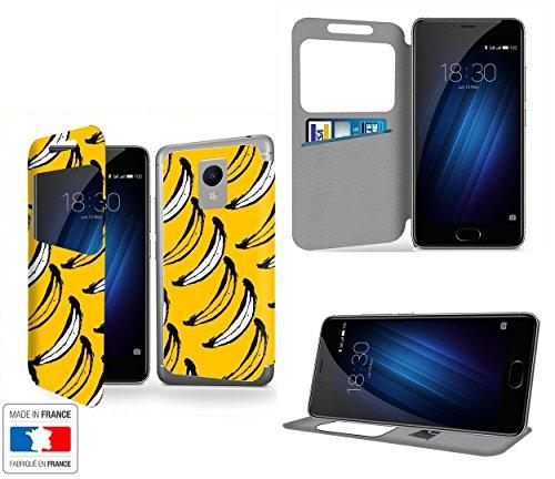 Bananas Collection Pattern Portafoglio PU Pelle Custodia Protettiva Case Cover per Meizu M3s con Ventana de visibilidad - Casae Industry