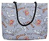 Harry Potter Tote Travel Bag Gryffindor Hedwig All Over Print Grey