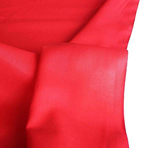 TOLKO Baumwollstoff | 42 kräftige ÖkoTex Farben Baumwoll-Nesselstoff Uni Kleiderstoff Dekostoff | Baumwolle Meterware 150cm breit | Vorhang-Stoff Bezugsstoff Webstoff 50cm (Rot)