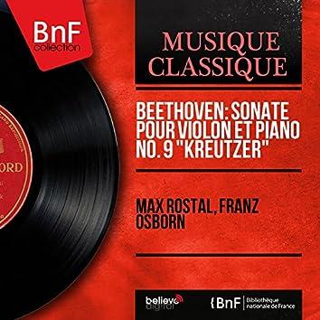 """Beethoven: Sonate pour violon et piano No. 9 """"Kreutzer"""" (Mono Version)"""
