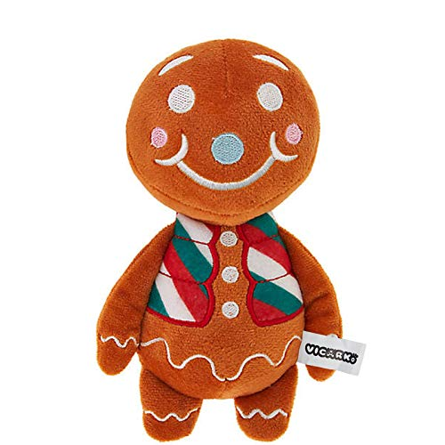 VICARKO Christmas Dog Toys Pet Squeaky Chew Toy for Boredom Interactive Plush Stuffing Cute Stocking Gifts Holiday List Gingerbread Man