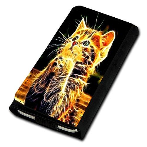 sw-mobile-shop Book Style Flip Handy Tasche Case Schutz Hülle Foto Schale Motiv Etui für Medion Life E5001 - Flip U3 Design3