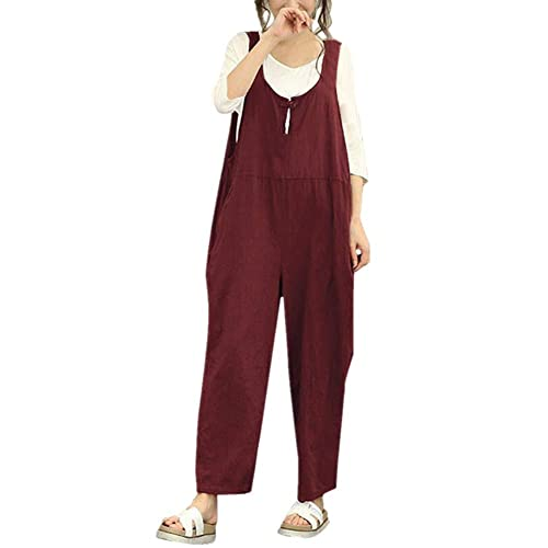 8e4352c07fae VEMOW Women Jumpsuits Playsuit Ladies Rompers Bodysuit All in One Overalls  Loose Cami Harem Oversized Baggy