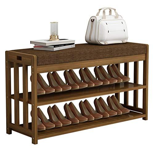Zapatero moderno de madera para zapatos, organizador de zapatos con cojín para entrada, pasillo, sala de estar, muebles de zapatos (tamaño: 70 cm)