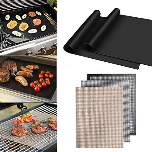 SHIM 3pcs réutilisable antiadhésifs BBQ Grill Mat Pad Pique Nique Plateau de Cuisson portatif extérieur Kocht Barbecue Four Outil 3 PIÈCES 3 Pcs Black-b
