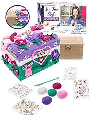 Purple Ladybug Decorate Your Own Wooden Jewelry Box for Girls Craft Kit - Fun DIY Activity Set for Kids - Unique Birthday or Holiday Girl Gift Idea, Makes a Great Creative Art Project