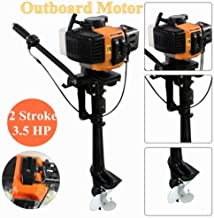NOPTEG 3.5 HP 2-Stroke 2.5kw Outboard Motor Engine Inflatable Boat Water/Air Cooling老ASIN