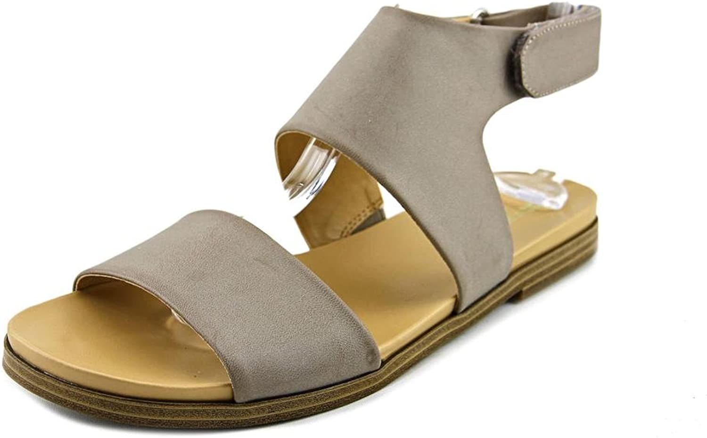 Naturalizer Kimono Flat Sandals - Light Grey Smooth