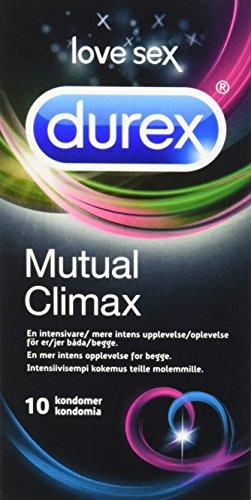 Durex transparent Liebe Sex Gegenseitige Höhepunkt Latex Kondom–10Stück