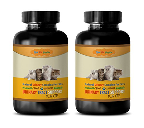 cat Bladder - CAT Urinary Tract Support - Best Complex - Advanced - Cranberry Pills for Cats - 180 Treats (2 Bottles)