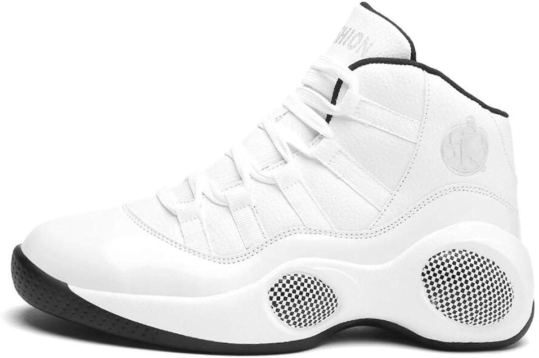 Xxoshoe Couple Men's Women's High Top Running shoes Fashion Sneaker,Wear-resistant Shock Absorbing Basketball shoes