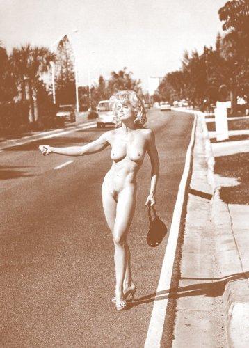 "Madonna Hitchhiking 11"" X 14"" Sepia Poster"