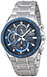 Casio Men's Edifice Quartz Watch with Stainless Steel Strap, Silver, 28.5 (Model: EQS-920DB-2AVCR)
