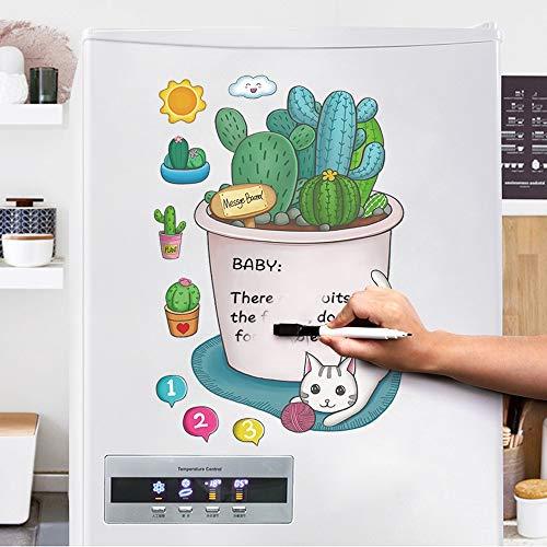 shenlanyu Kühlschrankmagnet Magnetische Kaktus Nachricht Bord Löschbaren Brot Kühlschrank Aufkleber Rekord Liste Erinnern Memo Boards Whiteboard Marker Magnete Home Decor