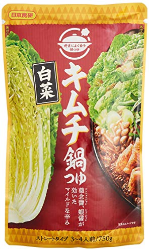 日本食研 白菜 キムチ鍋つゆ 750g ×10袋