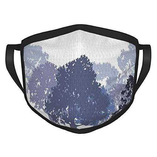 Cubierta para la cara, diseño de bosques, bosques abstractos, animales salvajes, ciervos, liebre y alce, cubierta para la boca, paño lavable para hombres, mujeres, ciclismo, camping, viajes