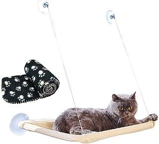 JZK Ventana montada hamaca para gato + manta gato, cama