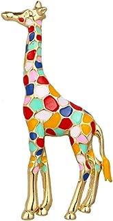 Giraffe Brooch, Enamel Giraffe Brooch for Women Girls Cute Animal Spotted Brooch Pin Jewelry