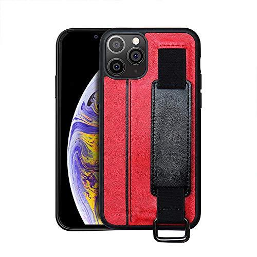 FYMIJJ Funda para teléfono para iPhone 11 Pro Funda de Cuero con Ranura para Tarjeta y Pulsera para X SE 2020XS MAX 6 7 8 Plus Funda Protectora antichoque, roja, para IP 12,6.7 Pulgadas