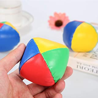 Yosoo Health Gear Thud Juggling Balls 3 Piezas Amarillo Negro PU Malabares Equipo Payaso Jugando Malabares Juego de Bolas para Principiantes