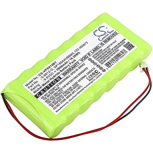 CS-VPX914BT Batería 2000mAh Compatible con [VISONIC] Amber Select, AmberLink Emergency Response, PowerMax Complete Alarm Control Panel, Powermax Pro, PowerMaxComplete Control Panel sustituye 0-9912-G