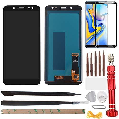 """YHX-OU 5.6\"""" für Samsung Galaxy J6 2018 J600F J600 LCD Display Touchscreen Ersatz Bildschirm mit Werkzeug+ Schutzfolie (Schwarz)"""