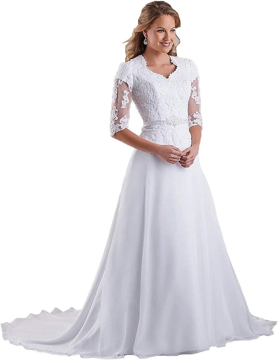 Miao Duo Women's 蔵 Elegant Lace Beach Wedding Dresses for Bride 20 発売モデル