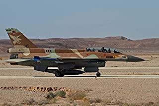 An F-16D Barak of the Israeli Air Force taxiing on the runway Poster Print by Ofer ZidonStocktrek Images (34 x 22)