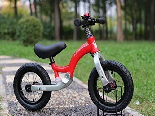 Cómodo Balance de bicicletas de 12 pulgadas, n-Pedal aprender a montar con altura ajustable con neumáticos inflables anillo de Bell y el soporte for Niñas Niños de 2 a 6 años anteriores a la Bicicleta