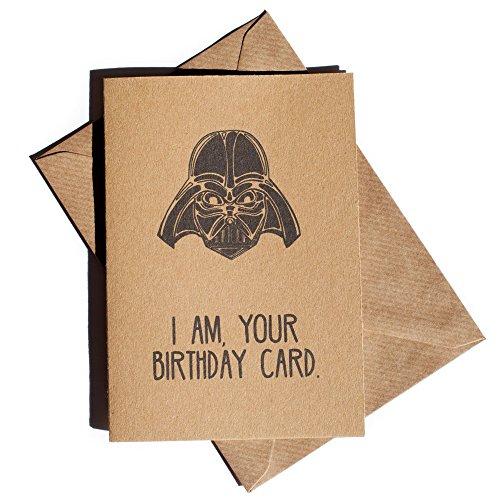 I am your birthday card - Brown Kraft Funny Birthday Card inspired by Star...