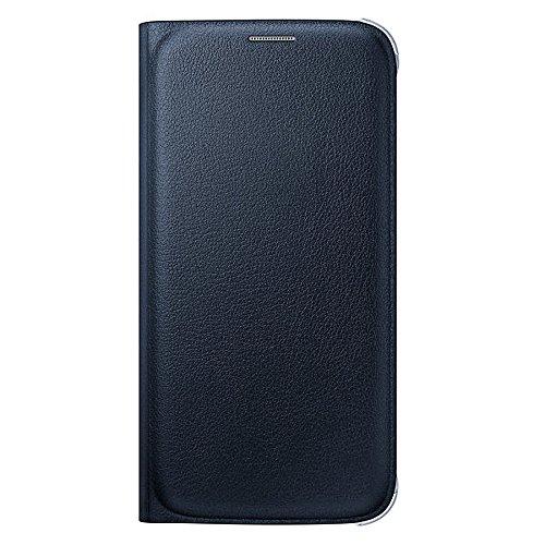 Samsung Custodia Flip Wallet in Similpelle per Galaxy S6, Nero
