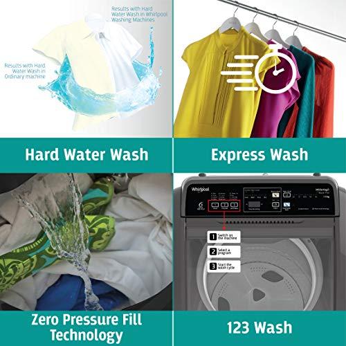 Whirlpool 7.5 Kg 5 Star Royal Plus Fully-Automatic Top Loading Washing Machine (WHITEMAGIC ROYAL PLUS 7.5, Grey, Hard Water Wash) 5