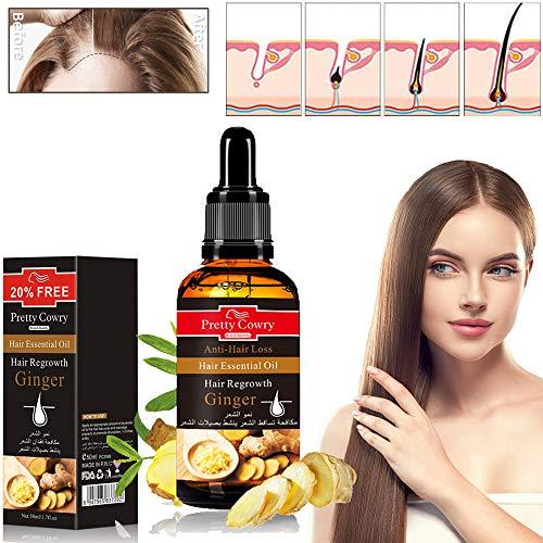 Xnuoyo Haarwachstum Serum, Anti-Haarausfall, Natürliche Kräuteressenz, Anti-Haarausfall Haar Serum, für dünner Werdendes Haar, Verdickung und Nachwachen, für Schnelles Haarwachstum 50ml