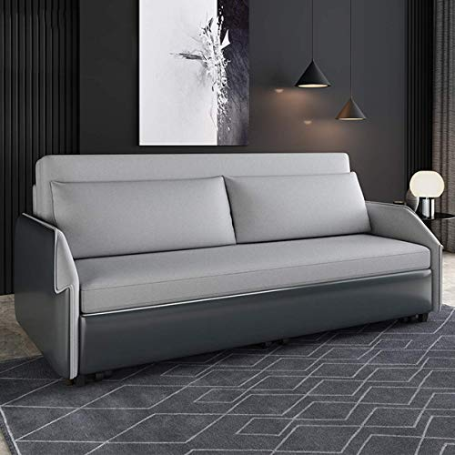 N/Z Home Equipment Luxury Leather Folding Sofas Bed Sofa Convertible Bed Multifunctional Sitting And Sleeper Storage Sofa Bed Pull Out Loveseat Futon Couch Furniture for Apartment Living Room 1.75M