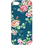 Casotec Vintage Floral Design Hard Back Case Cover for Apple iPhone 5 / 5S