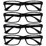The Reading Glasses Company Gafas De Lectura Negro Lectores Valor Pack 4 Estilo Diseñador Hombres Mujeres Rrrr92-1 +1,00 4 Unidades 88 g
