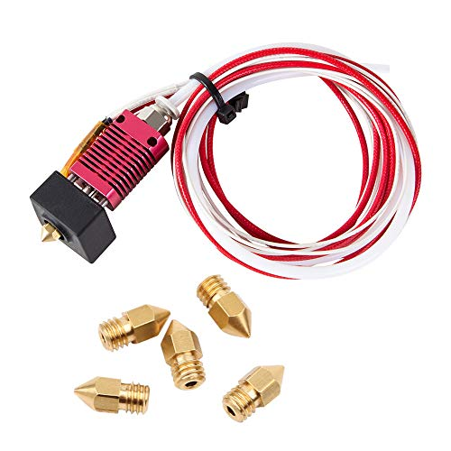 3D Printer Parts Ender 3 Hotend Assembled Ender 3 Pro Extruder Kit 24V 40W for Creality Ender 3 / Ender 3 Pro with Silicon Cover and 0.4mm Nozzles