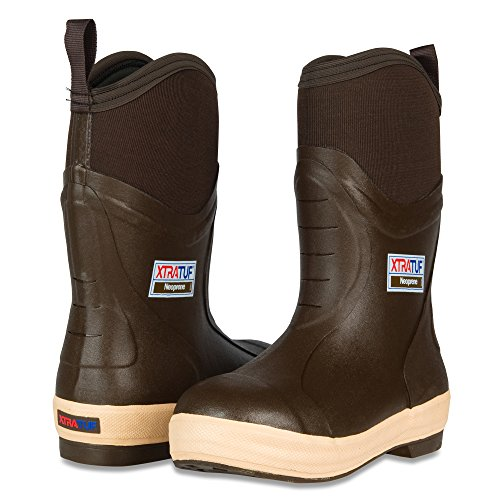 "XTRATUF Elite Series 12"" Neoprene Insulated Men's Fishing Boots, Chocolate & Tan , 7 , (22612)"
