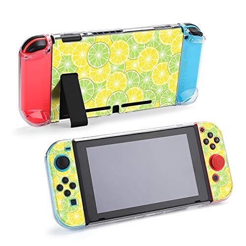Round Slices Limette und Zitrone Bright Tropical Fruits Schutzhülle für Nintendo Switch, Soft Slim Case Cover