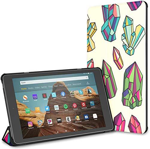 Estuche para Cristales Brillantes y Gemas Fire HD 10 Tablet (9.a / 7.a generación, versión 2019/2017) Estuche HD Fire 10 Kindle 10 Fire Estuche para Tableta Auto Wake/Sleep para Tableta de 10.1 pul